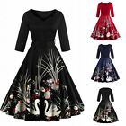 Women Vintage 50s 60s Retro Rockabilly Swing Pinup Plus Size Evening Party Dress