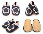 Dotty Fish Girls Soft Leather Baby and Toddler Shoes with non slip Suede Soles <br/> Animals, Hearts, Stars,  in sizes 0-6 Months - 4-5 Year