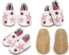 Dotty Fish Girls Soft Leather Baby and Toddler Shoes with non slip Suede Soles <br/> 0-0 / 0-6 / 6-12 / 12-18 / 18-24 months 2-3 / 3-4 Years