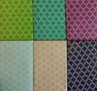 Quatrefoil Geometric Clovers Vinyl Flannel Back Tablecloth Various Colors Sizes