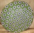 """Vintage 8""""  Lustre Ware Mint Green w Gray & White Flowers Salad Plate Germany"""