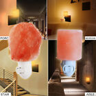 Mini Cute Hand Carved Natural Crystal Himalayan Salt Wall Lamp Night Light Gifts