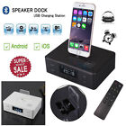 D9 NFC Bluetooth Speaker Docking Station USB FM Radio AUX for iPhone X 8 Android