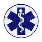"Star of life - big 3.5"" - Paramedic Cross blue PATCH/BADGE"
