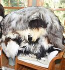 Внешний вид - Amazing Genuine Sheepskin Rug Larping Long Wool for Troll Wig Decorative Throw