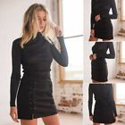 Uk Women Ladies Lace Up Leather Suede Skirt Cross High Waist Zipper Short Dress