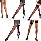 Yummy Bee Silky Seam Stockings Tights Black Pantyhose Nude Red Plus Size 8 - 18