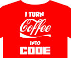 Computer T Shirt up to 5XL, vintage, code, programmer, coke, coffee, gift
