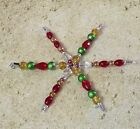 Handmade 4 Inch Glass Bead Snowflake Christmas Ornament