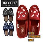 TROOPER AMERICA MENS HOUSE SHOES PAISLEY BANDANA SLIPPER SLIP ON SHOES INDOOR