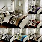 Luxury duvet cover bedding set single double super king pillow cases polycotton