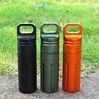 Outdoor CNC Waterproof Pill Storage Case EDC Seal Canister Survival Emergency Co