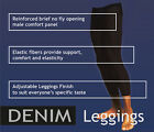 New Tim Legwear Denim 70 Denier Black Men Leggings
