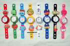 SHOPKINS JIBBITZ BAND WATCH  & A SELECTION OF 9 CHARMS,