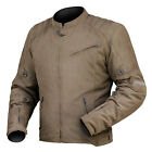 DriRider Mens Scrambler Waxed Textile Motocycle Jacket - BROWN Street Road Tour