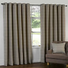 HERRINGBONE TWEED Check Heavy Lined Curtains NATURAL BEIGE LATTE 66 90 108
