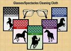 HORSE SILHOUETTE GLASSES/SPECTACLES CLEANING CLOTH PONY GIFT DAUGHTER MUM SISTER