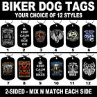 DOG TAG NECKLACE - BIKER 12 Styles Motorcycle America USA Ride Freedom Motor