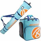 Light Blue Orange Ski Bag Combo for Ski Poles Boots and Helmet -Limited Edition-