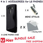 4 in 1 Accessories Phone Case Screen Protector Mini Stylus for LG Smartphones