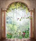 3D Arch Forest Birds 16 WallPaper Murals Wall Print Decal Wall Deco AJ WALLPAPER
