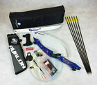 """Blue 66"""" Core Archery Pro Take Down Recurve Bow & Complete Package"""