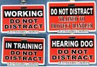 DO NOT DISTRACT service dog clip - use instead of service dog patch