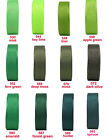 "10y 25y 50y 22mm 7/8"" Green Shades Premium Grosgrain Ribbon Occasions Eco"
