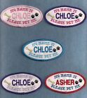 MY NAME IS personalized PLEASE PET ME service dog vest patch sew on or back