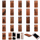 100% Natural Wood Wooden Bamboo Phone Cases Covers for Apple iPhone 7...