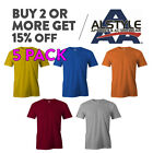 5 PACK AAA ALSTYLE 1301 MENS PLAIN T SHIRT CASUAL SHORT SLEEVE BASIC COTTON TEE image