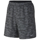"""Nike Print Distance Running Shorts built-in brief 9"""" Grey $50 New Mens S M L 2XL"""