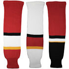 Calgary Flames Knitted Classic Hockey Socks - Red Black White $15.99 USD on eBay