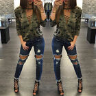 Women Long Sleeve Lace Up Camouflage Shirt Casual Blouse Tops Lady Loose T Shirt