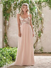 Rose Gold Sequin Chiffon Bridesmaid Dresses Long Maid Of The Bride Gowns WD020