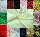 SATIN FABRIC Exclusive Silky Plain Dress&Craft Material Extra Wide High Quality