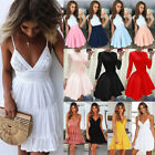 Kyпить UK Boho Womens Lace Sleeveless V Neck Ladies Casual Evening Paty Long Dress на еВаy.соm