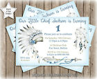 LITTLE CHIEF BOHO TRIBAL BIRTHDAY/BABY SHOWER PARTY PERSONALISED INVITATION x 1