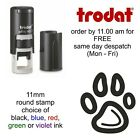 Paw Print (hollow) Loyalty Card Stamp Self Inking rubber dog cat pet veterinary