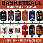 DOG TAG NECKLACE - BASKETBALL B Ball Baller Hoops Swish Shoot Sports Dunk Team