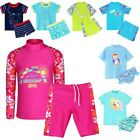 Youth Girls Swimsuit Kid Swimming Long Sleeve Protection Rash Two Piece Bathers