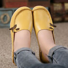 Womens Casual Flat Leather Shoes Driving Loafers Peas Moccasin Comfort Walking