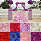 100pcs Wedding Table Scatters Silk Rose Petals Bridal Basket Fake Flower Decor