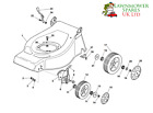 CHAMPION R484TR SP PETROL LAWNMOWER DECK AND WHEEL PARTS **GENUINE PARTS**