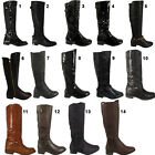 Ladies Knee High Boots Womens Biker Riding Casual Fashion Winter Boot Winter Zip