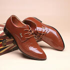 New Men's Business casual oxfords Leather Shoes Dress Formal Bridegroom wedding