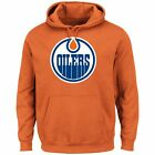 Edmonton Oilers Majestic Mens Hooded Pullover Sweatshirt Twill Patch S,M,L,XL,2X