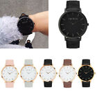 Women Men Fashion Dress Casual Quartz Gold Leather Band Analog Wrist Watches