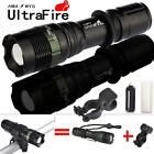 8000LM Police ZOOM T6 LED Cycling Bike Lamp 18650/AAA Flashlight 360° Mount Clip