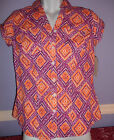 SONOMA LIFESTYLE TOP  ORANGE WHITE PURPLE NEW WITH TAG SIZE XS